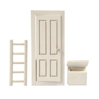 Creativ Company Houten Kabouterdeurtje set van deur, trap en brievenbus (mini)