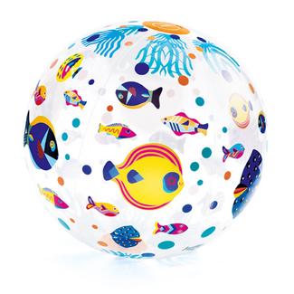 Djeco Bal, opblaasbare bal - vissen, 35cm (Fishes)