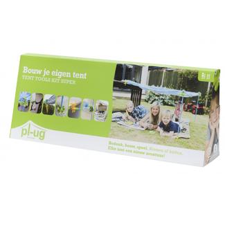 Pl-ug Buitenspeelgoed Tent - bouw je eigen tent kit (super)