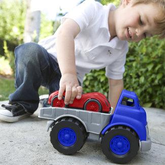 Greentoys Buitenspeelgoed - transportwagen met raceauto (Flatbed Truck & Race Car)