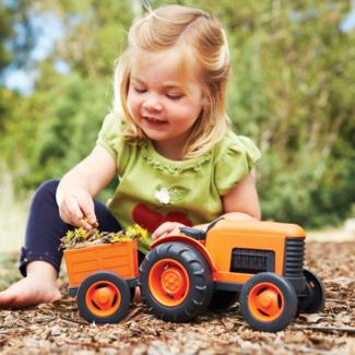 Greentoys Buitenspeelgoed - Tractor oranje (Tractor - orange)