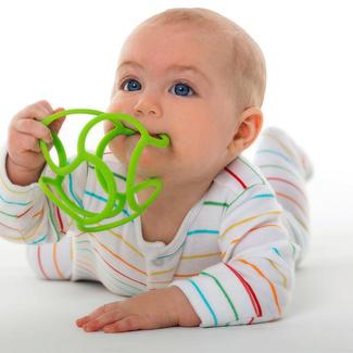 Babyspeelgoed - bijtfiguur bal assorti, 10cm