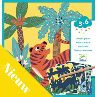 Djeco Knutselpakket - Kraskaarten, Jungle Dieren
