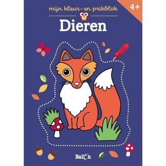 Knutselen - Mijn kleur- en prikblok: Dieren