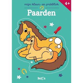 Knutselen - Mijn kleur- en prikblok: Paarden
