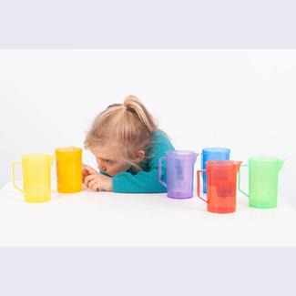 Tickit Buitenspeelgoed - gekleurde transparante maatbeker, paars