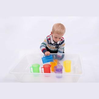 Tickit Buitenspeelgoed - gekleurde transparante maatbeker, blauw