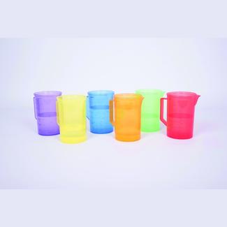 Tickit Buitenspeelgoed - gekleurde transparante maatbeker, rood