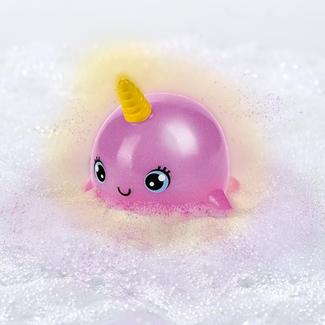 Lichtgevende narwals met glitter voor in bad