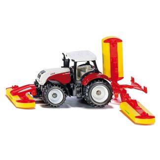 Siku Steyer tractor met Pöttinger maaiwerk