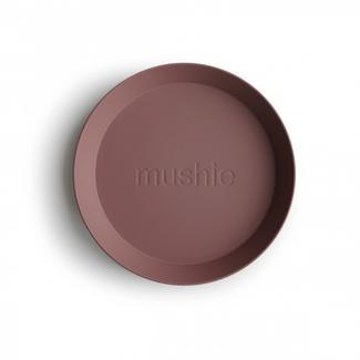 Mushie Borden - oud roze (woodchuck), set van 2