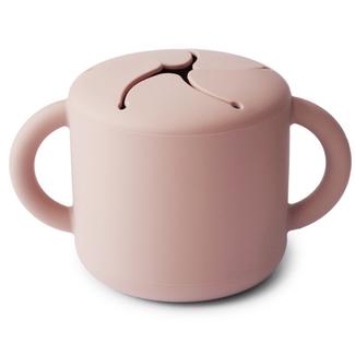 Mushie Snack cup - zacht roze (blush)