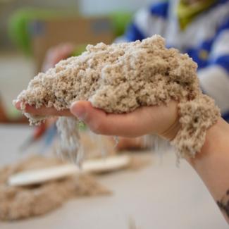 Knutselen, klei/zand - Kinetic sand (1kg)