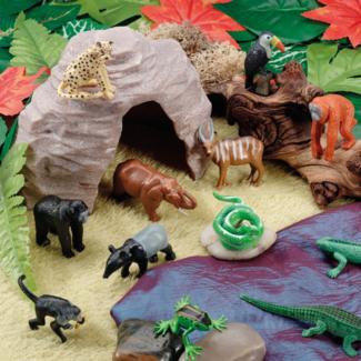 Yellow Door Sensomotorische speelstenen, Speelsets - jungle grot (play cave)