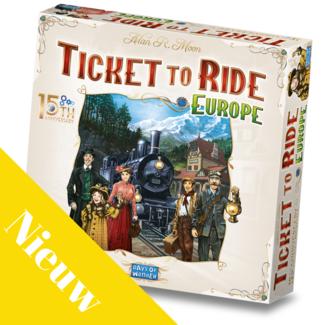 Day of Wonder Spellen, Bordspel - Ticket to Ride Europa 15th anniversary NL