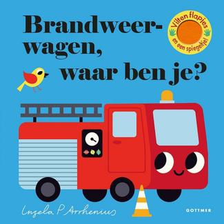 Gottmer Boeken, Karton boeken - Vilten flapjesboek Brandweerwagen waar ben je? (2+ jr.)