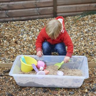 edxEducation Buitenspeelgoed - transparante zand- en water speelbak