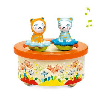 Djeco Djeco Muziekdoosje - poezen (Twins Melody)