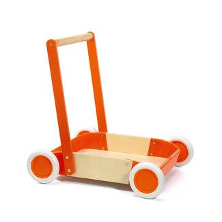 Djeco Djeco Babyspeelgoed, Houten speelgoed - Loopkar, blokkenkar Trott'it rood