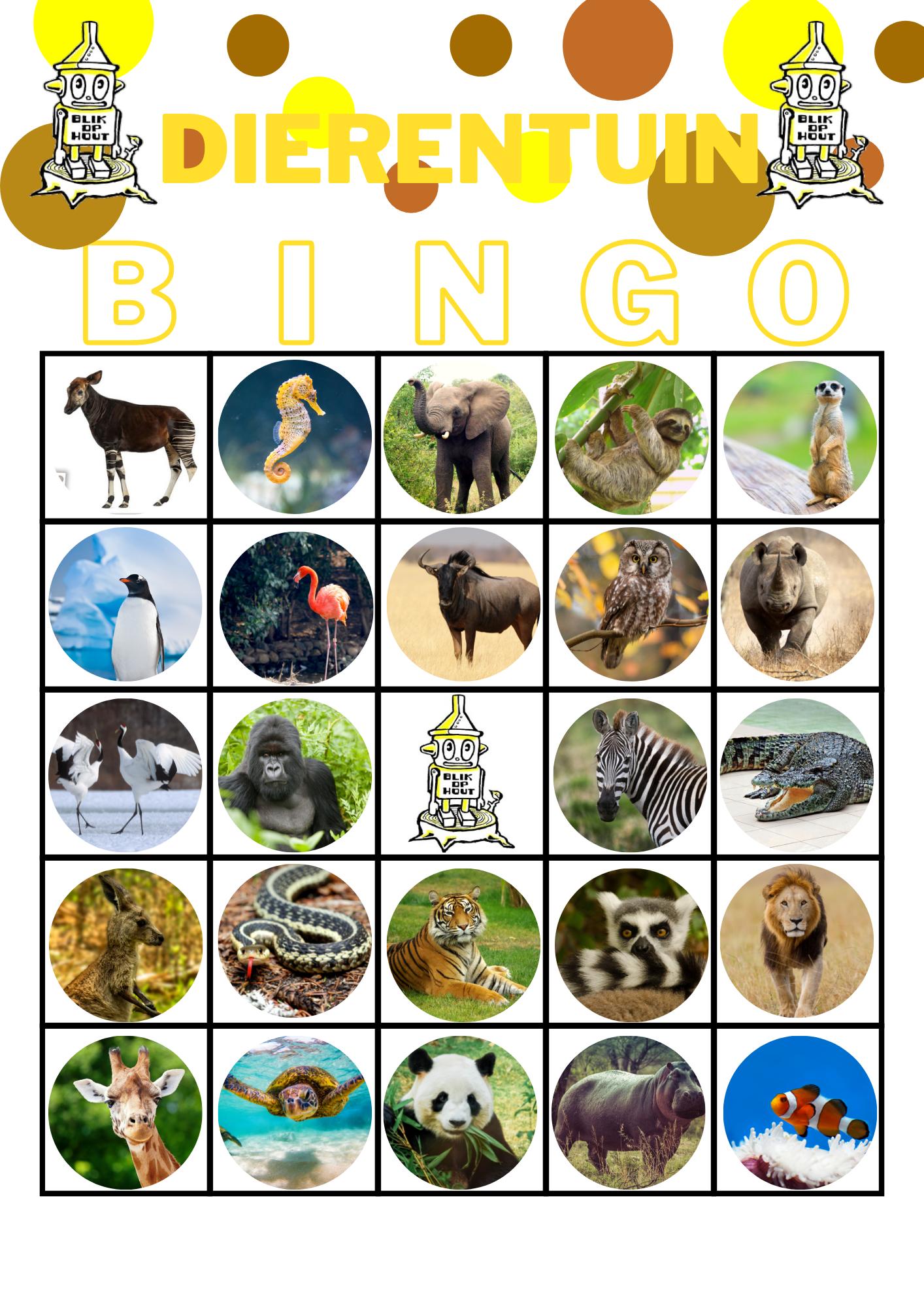 Dierentuin Bingo