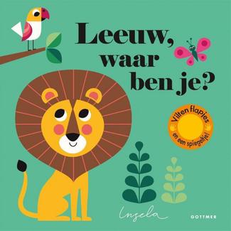 Gottmer Boeken, Karton boeken - Vilten flapjesboek Leeuw, waar ben je? (2+jr.)