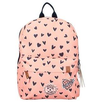 Milky Kiss Rugzak - kinderrugtas roze rugzak met  hartjes (love land)