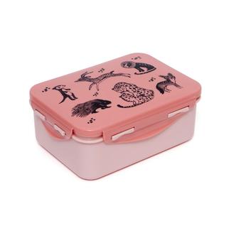 Petit Monkey Lunchtrommel - lunch box dieren, zwart (black animals)