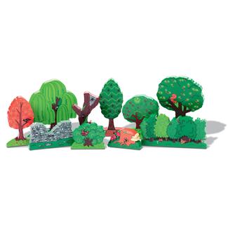 Yellow Door Houten speelgoed  - speelfiguren bomen, set van 10