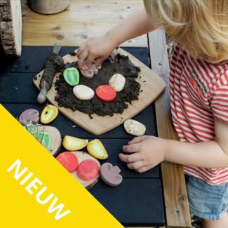 Yellow Door Sensomotorische speelstenen - pizza toppings, set van 15