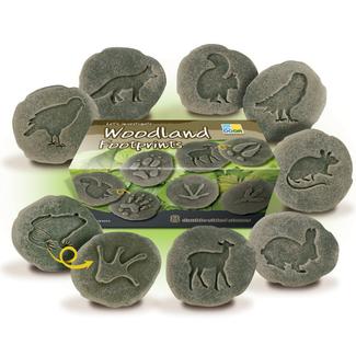 Yellow Door Sensomotorische speelstenen - pootafdrukken bosdieren, set van 8