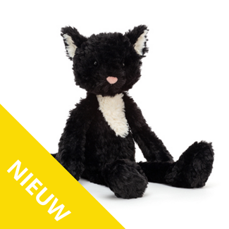 Jellycat Knuffels - zwarte kat, 36cm (Smuffle Cat)