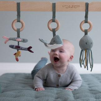 Little Dutch Babyspeelgoed - houten babygym lichtgroen/mint incl. speeltjes (Ocean Mint)