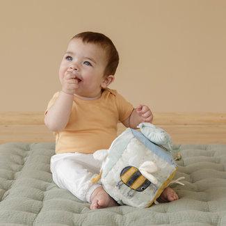 Little Dutch Babyspeelgoed - zachte activiteitenkubus mint (Little Goose)