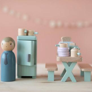 Little Dutch Poppenhuis accessoires - uitbreidingsset keuken