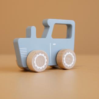 Little Dutch Houten speelgoed, Auto's - houten traktor blauw