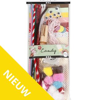 Creativ Company Knutselen - knutselset met basismaterialen 'candy'