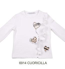 ELSY Cuoricilla T-Shirt Jersey Yogurt