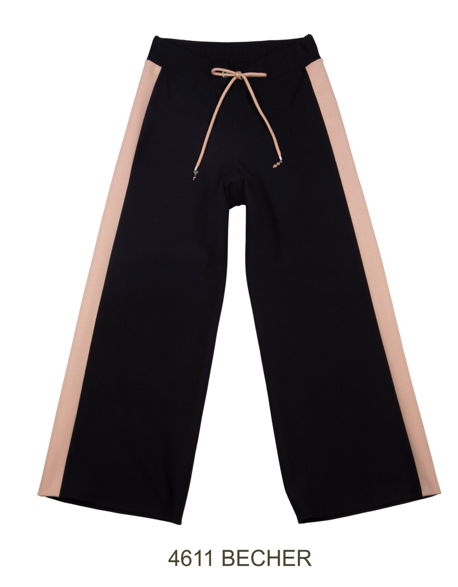 ELSY Becher Pantalone Largo Nero
