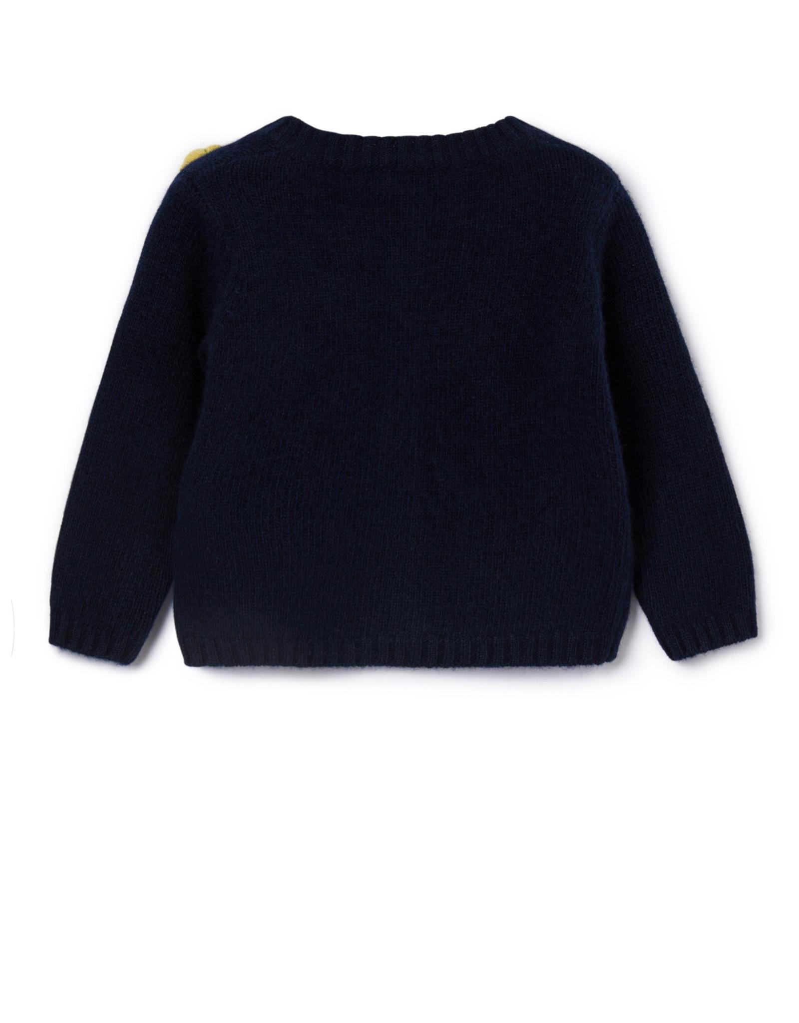 IL GUFO Cardigan Navy Blue/Burgundy