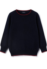 IL GUFO Sweater Navy Blue/Burgundy