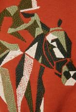 IL GUFO Cotton Sweater Terracotta/Hunter Green