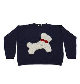 IL GUFO Sweater Navy Blue/Milk