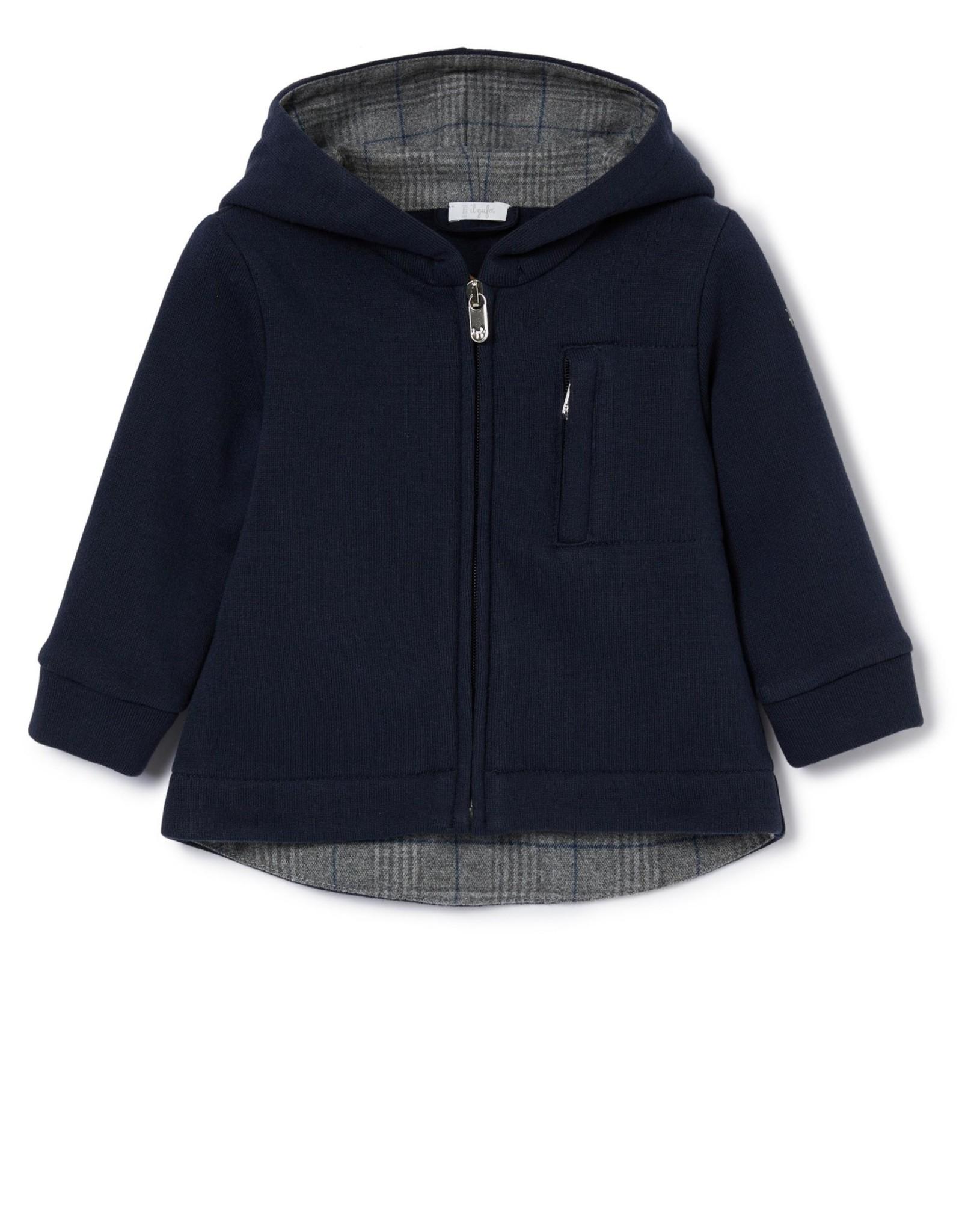 IL GUFO Jacket Navy Blue/Ash Grey
