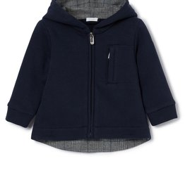 IL GUFO Jacket Navy Blue/Ash Grey