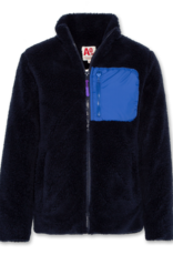 AMERICAN OUTFITTERS mock neck full zip fur Navy