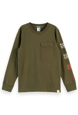 SCOTCH & SODA T-shirt with artworks Military