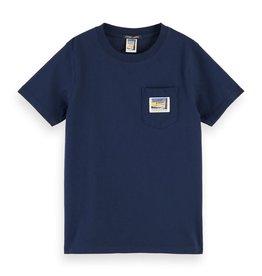 SCOTCH & SODA T-shirt donker blauw