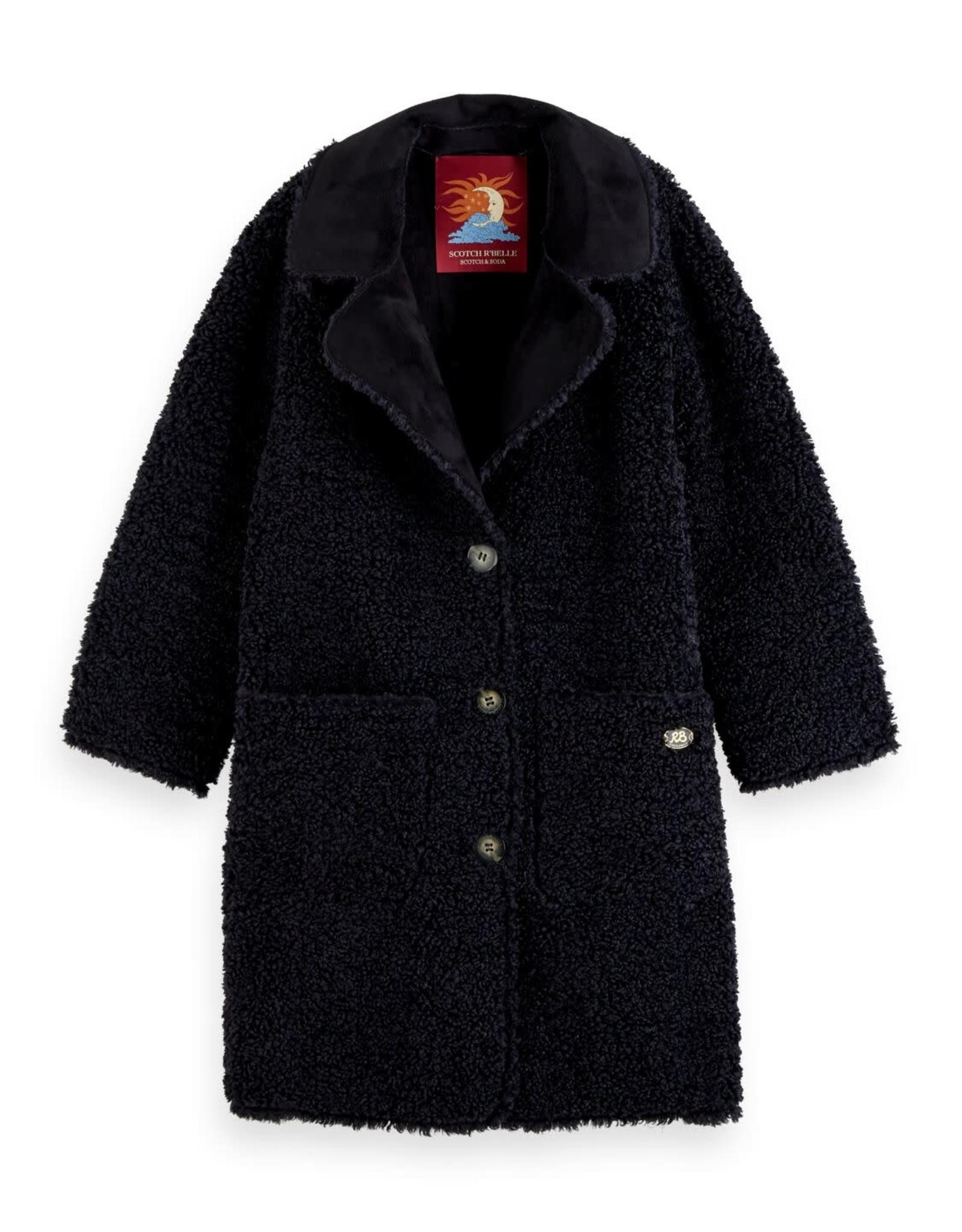 SCOTCH REBELLE Reversible teddy jacket 0002-Night