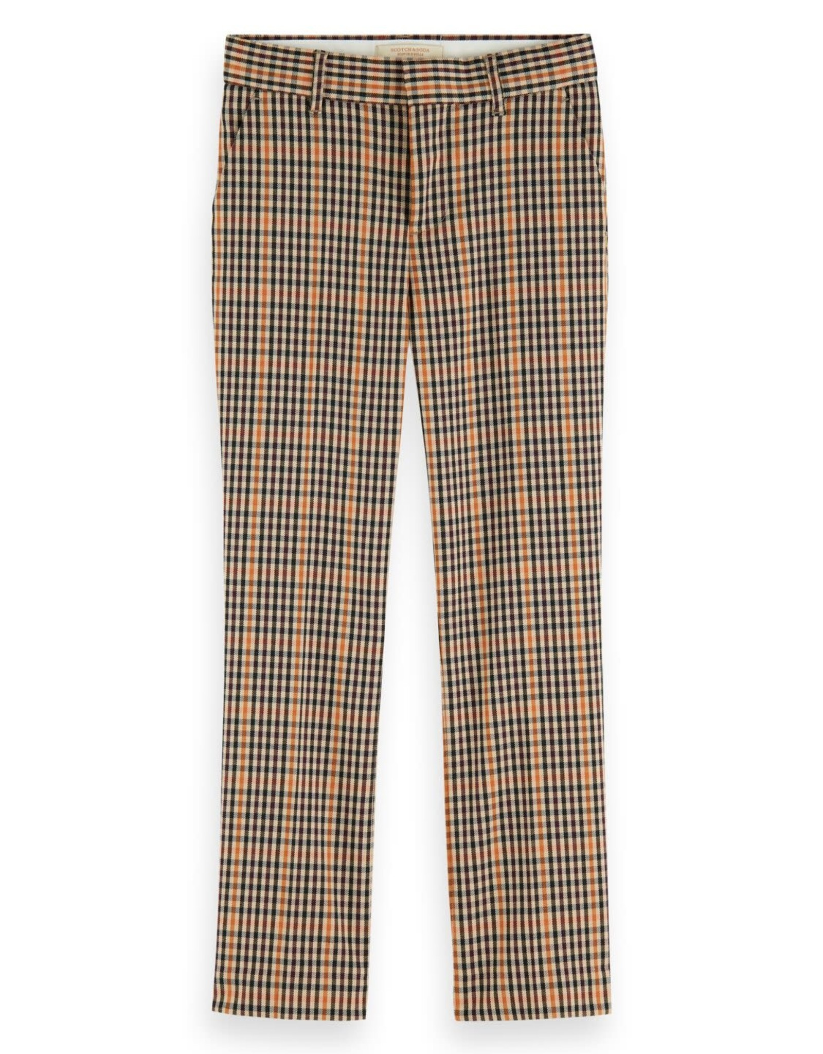 SCOTCH REBELLE Slim fit pants check 0219-Combo C