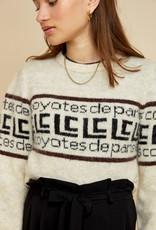 LES COYOTES DE PARIS Flo off-white melange pull